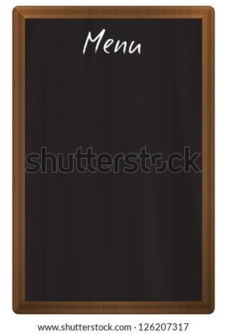 Vertical chalkboard menu - stock photo
