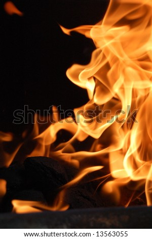 Vertical Fire - stock photo