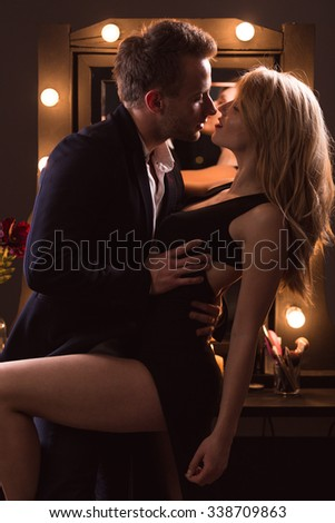Couple having a quickie