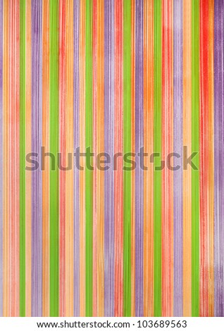 vertical multicolored striped background of painted wood - stock photo