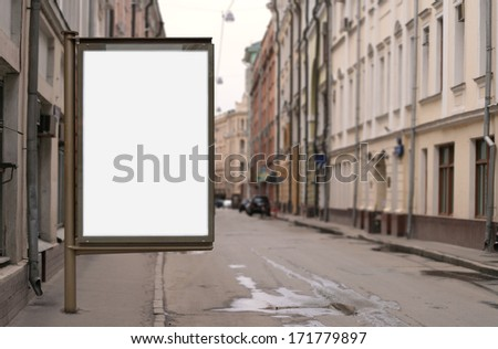 Vertical poster. Blank template - stock photo
