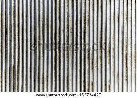 vertical rustic corrugated galvanize steel pattern - stock photo