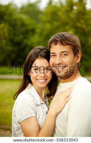 Vertical shot of a couple in love - stock photo