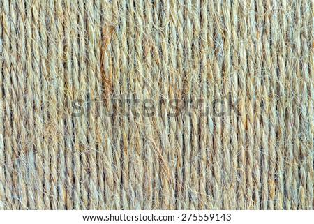 Vertical Strings of Hemp Twine Background - stock photo