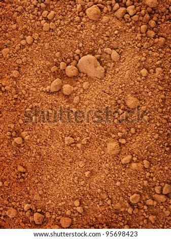vertical texture of red dry clay - stock photo