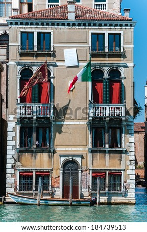 Vertical view of venice building. Italy. Europe. - stock photo