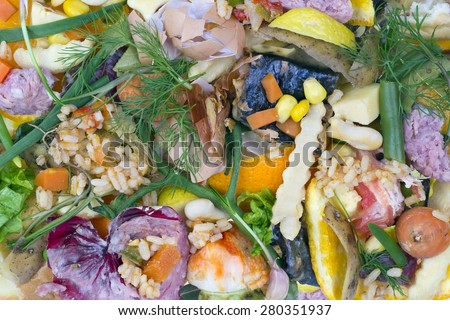 Very bad rotten dirty smelly  old food background  concept - stock photo