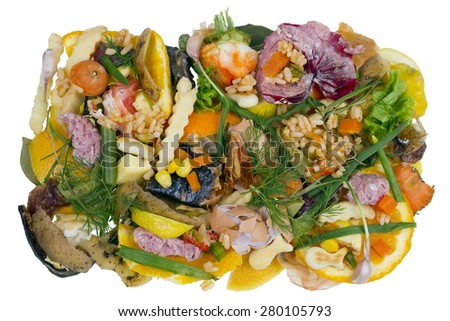 Very bad rotten dirty smelly old food isolated concept - stock photo