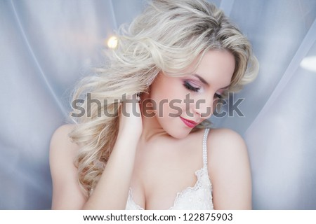 Very beautiful bride - stock photo