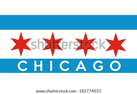 very big size of the american city chicago - stock photo