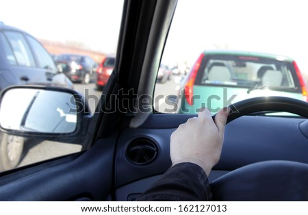 Very big traffic jam - stock photo