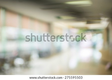 very blur image of corridor and light  for background usage - stock photo