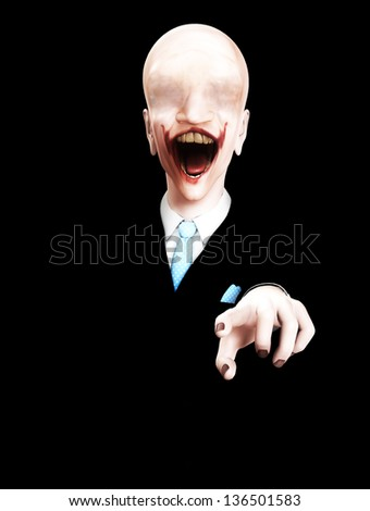 Very creepy  figure - stock photo