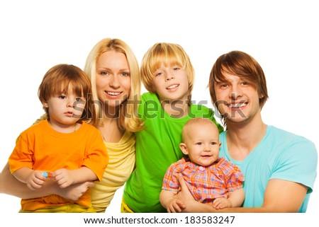 Very cute family - stock photo