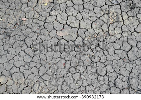 Very dried ground with cracks - desert concept - background  - stock photo
