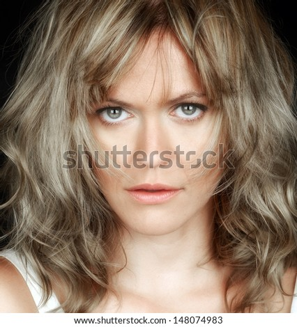 Very Nice close Image of a beautiful woman - stock photo