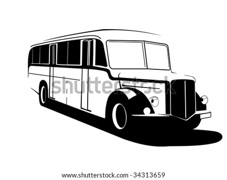 Very old  bus - stock photo