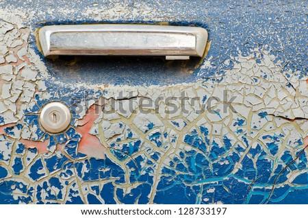 Very old car door - stock photo