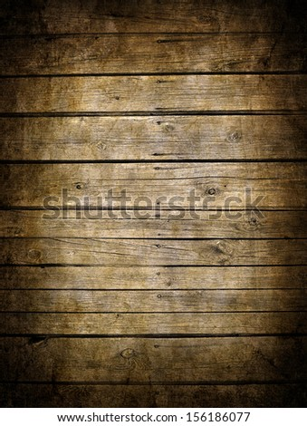 Very old dark brown wooden planks background - stock photo