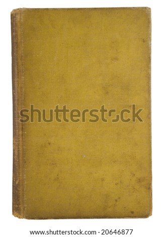 Very old fatigued blank book cover - stock photo