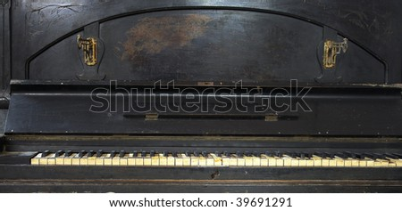 Very old piano - stock photo