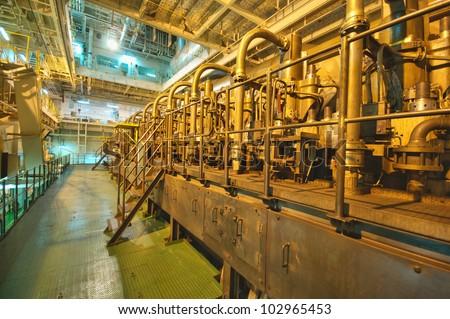 Vessel's Main Engine - stock photo