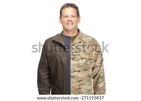 Veteran Soldier | Military to civilian transition  - stock photo