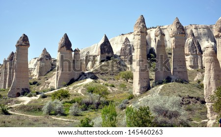 Vew of Cappadocia - Turkey - stock photo