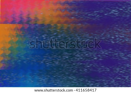 VHS Color Glitch Texture - stock photo