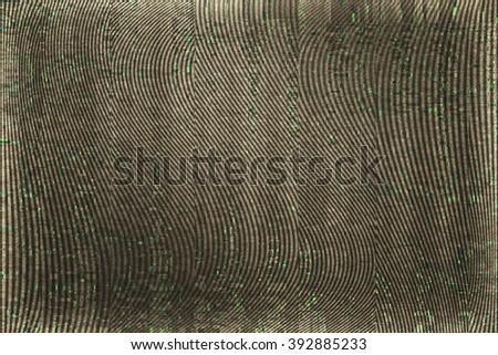 VHS Screen Glitch Texture - stock photo