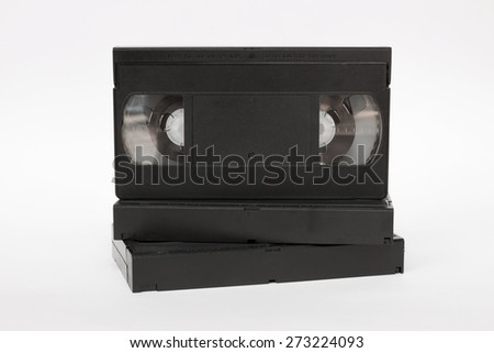 VHS video tape cassette - stock photo