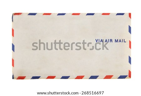 Via Air Mail Vintage Envelope 1941 Airmail - stock photo