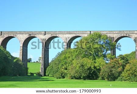 viaduct - stock photo