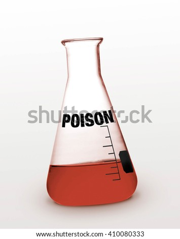 Vial or poison in tube - stock photo