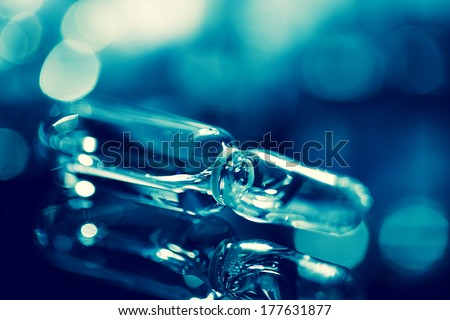 Vial. Selective focus with small dept of field.  - stock photo