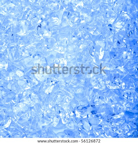 Vibrant Color Close up Ice Cube Background - stock photo