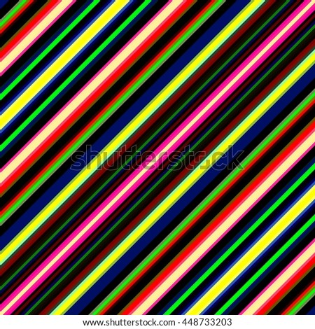 Vibrant diagonal multicolored stripes illustration. - stock photo