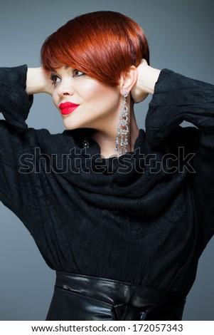 Vibrant hair color - stock photo