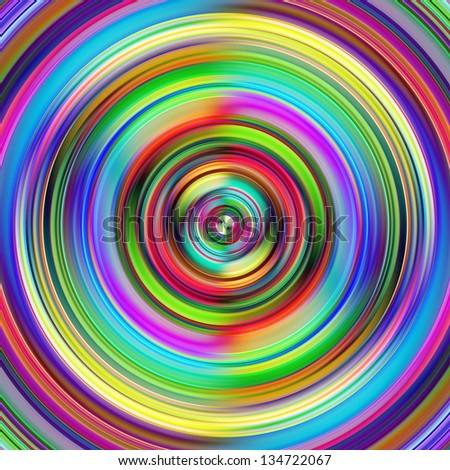 Vibrant multicolored circles disk illustration. - stock photo