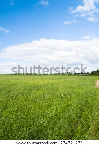 Vibrant Nature Nobody Outside  - stock photo
