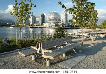 Vibrant Urban Park - stock photo