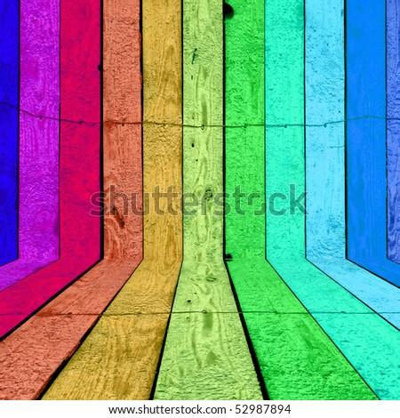 Vibrant Wood Background - stock photo