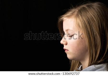 Victim of bullying - stock photo