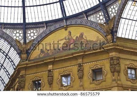 Victor Emmanuel Gallery, Milan, Italy - stock photo