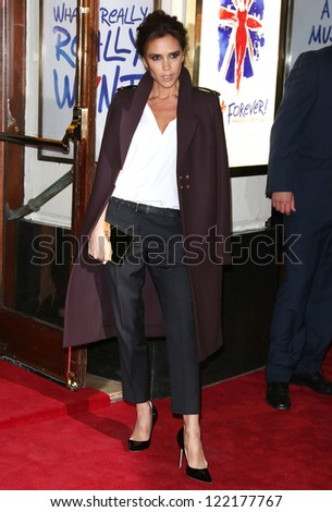 Victoria Beckham arriving for VIVA Forever Spice Girls the Musical held at the Piccadilly Theatre. 11/12/2012 Picture by: Henry Harris - stock photo