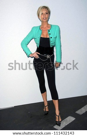 Victoria Beckham  at the 2007/2008 Chanel Cruise Show Presented by Karl Lagerfeld. Hanger 8, Santa Monica, CA. 05-18-07 - stock photo