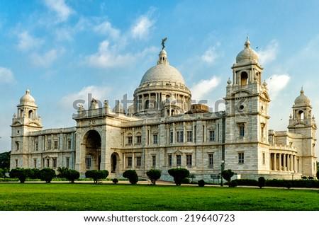 Victoria Memorial in India - stock photo