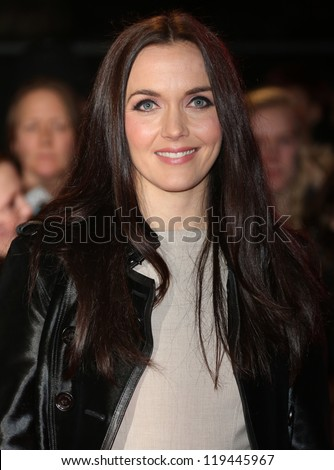 "Victoria Pendleton arriving for the ""The Twilight Saga: Breaking Dawn Part 2"" premiere at the Odeon Leicester Square, London. 14/11/2012 Picture by: Henry Harris - stock photo"