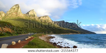Victoria Road in Cape Town - South Africa - stock photo