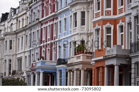 Victorian Buildings in London - stock photo